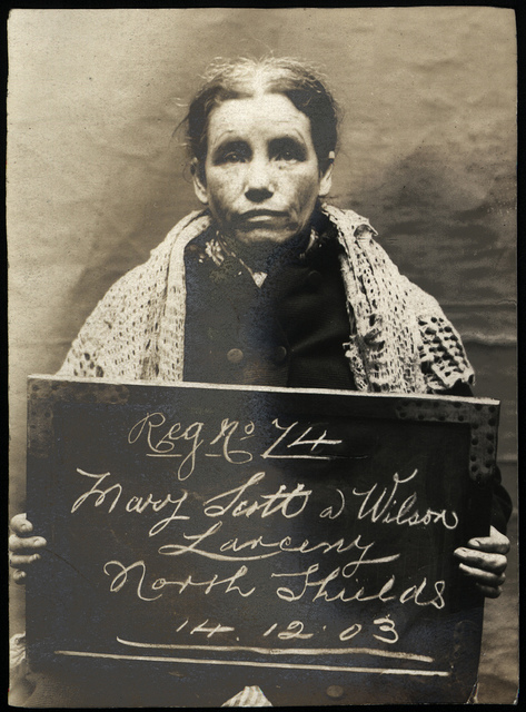 Mary Scott alias Wilson, arrested for stealing clothes