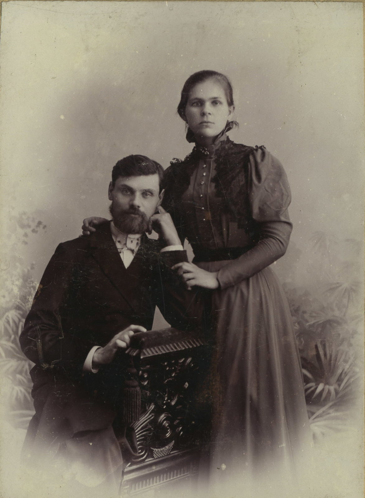 Murom, Vladimir Province, Russia. Married couple 1900-1903.