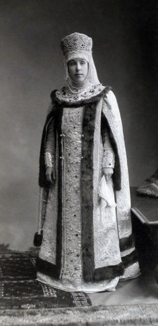 Nadezhda Vladimirovna Bezobrazova, born. Countess Stenbock-Fermor (Sennaya noblewoman of the times of Tsar Alexei Mikhailovich)