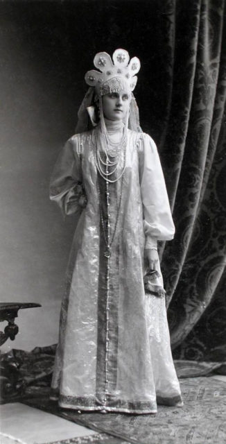 Princess E.V. Baryatinskaya (Maid of Honour) at the Winter Palace Costume Ball