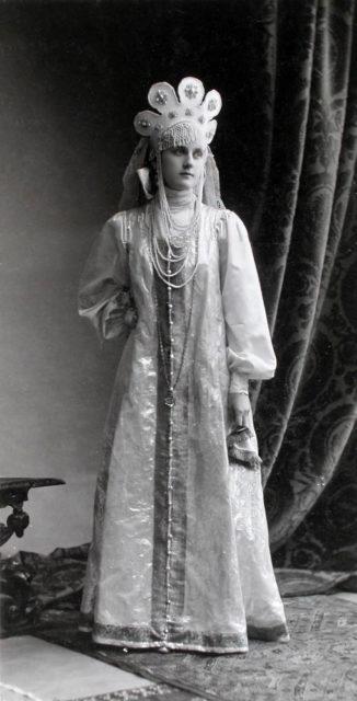 Princess E.V. Baryatinskaya (Maid of Honour) at the Winter Palace Costume Ball