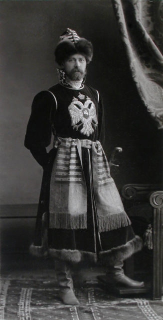 The Prince of Prince Dmitrii Borisovich Golitsyn, Head of the Imperial Hunt (Fyodor Tsar Alexei Mikhailovich)