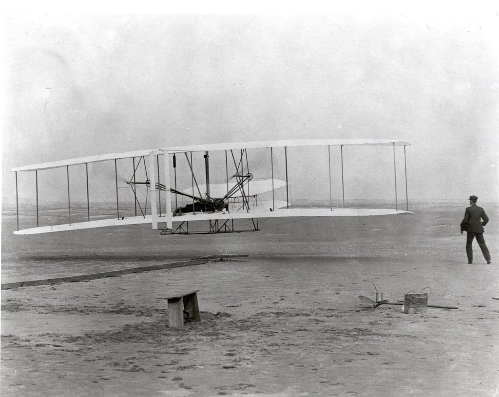 The Wright Brothers' First Heavier-than-air Flight