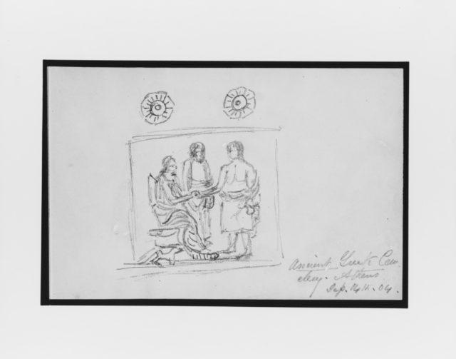 Sketch of Grave Stele (from Sketchbook)