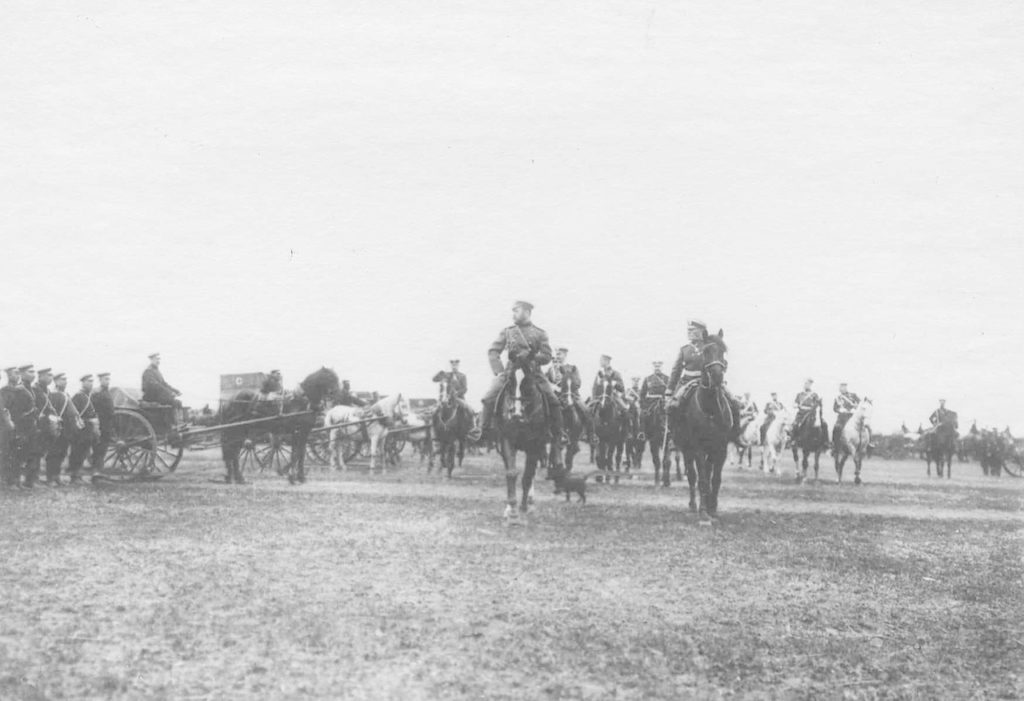 Belgorod. Review of the regiments before being sent to the active army. 1904