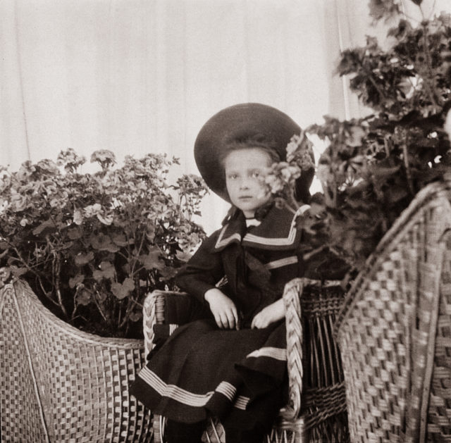 Grand Duchess Tatiana Nikolaevna. The second daughter of Emperor Nicholas II and Empress Alexandra Feodorovna. At home. Children's photo of 1904.