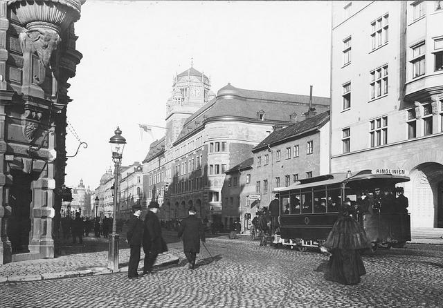 Horse tram  in Stockholm 1904