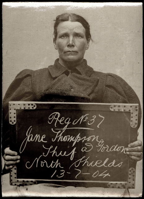 Jane Thompson alias Gordon, arrested for stealing a pair of boots