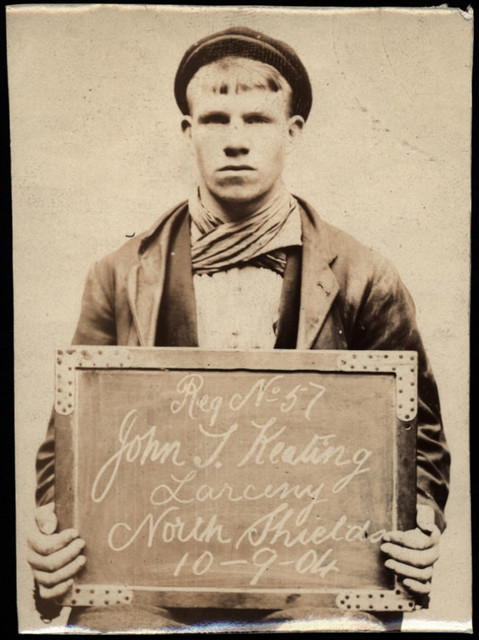 John T. Keating, arrested for stealing sash weights