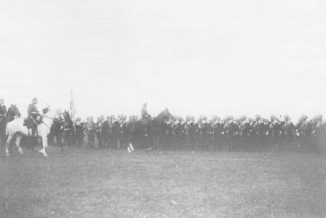 Kaluga. Review of the regiments before being sent to the active army. 1904