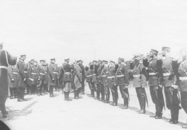 Kharkov. Review of the regiments before being sent to the far east front. 1904