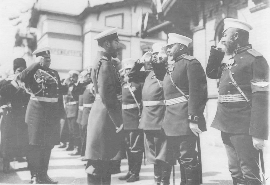 Kremenchug. Review of the regiments before being sent to the active army. 1904