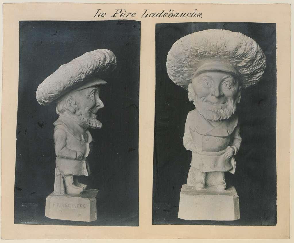 Le Pere Ladebauche L'honorable Treffle Berthiaume 2 photogaphs (HS85-10-14989)