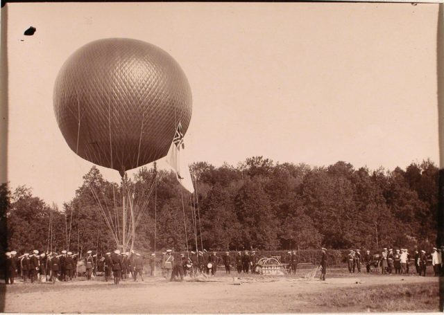 Nicholas II at aeronautical park. June 19, 1904