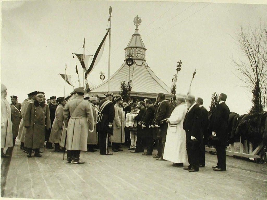 Nicholas II visits village Birzuly Kherson province, 1904.