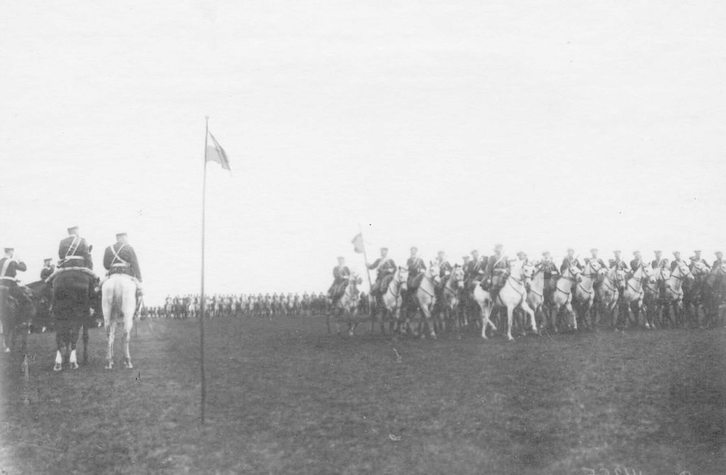Orel. Review of the regiments before being sent to the active army. 1904