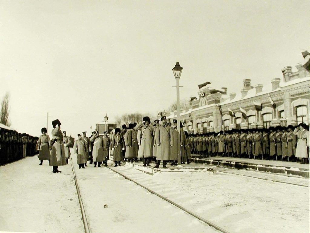 The arrival of Emperor Nicholas II at the station Babruysk. December 21, 1904.