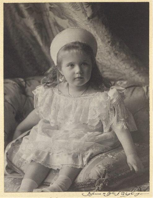 The Grand Duchess Anastasia Nikolaevna. The fourth daughter of Emperor Nicholas II and Empress Alexandra Feodorovna. Photo of 1904.