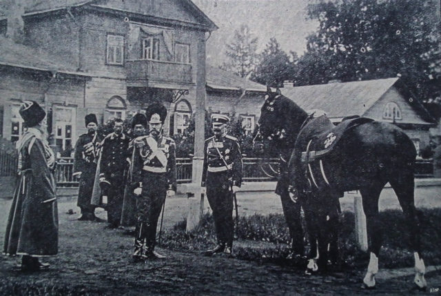 Tsar Nicholas II of Russia about to embark on his morning ride