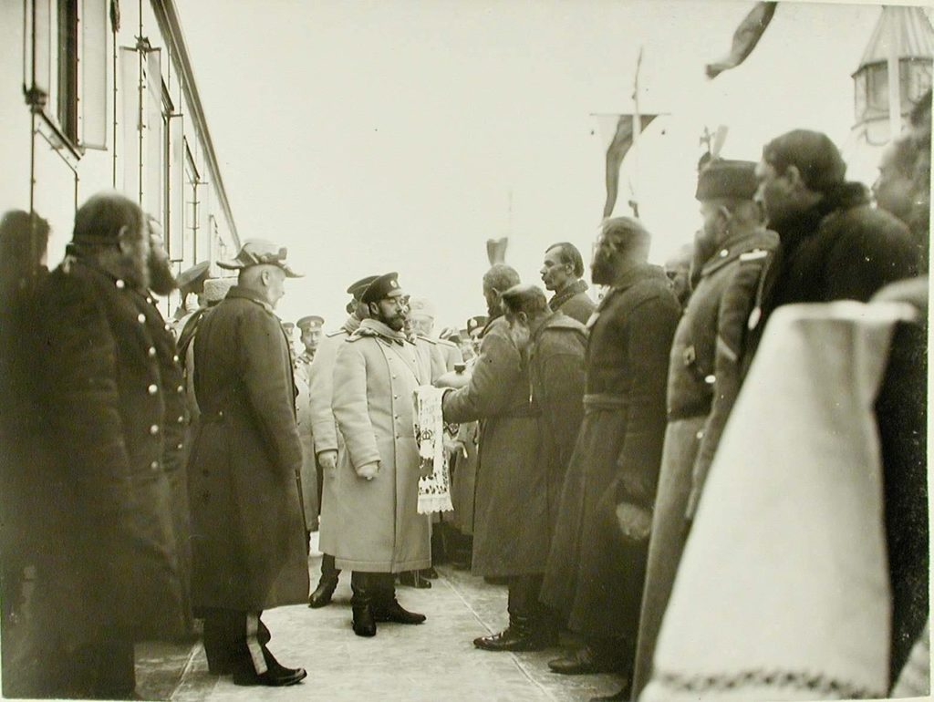 Zhmerynka. Residents greet Emperor Nicholas