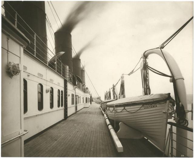 [Boat deck, Lusitania]