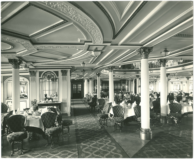 [First class lower dining saloon]