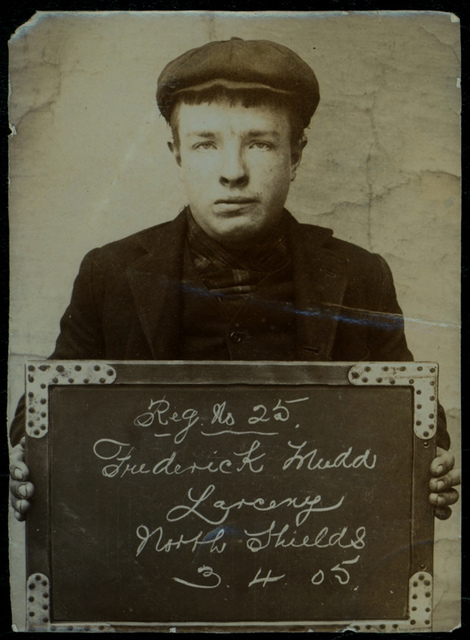 Frederick Mudd, arrested for stealing money