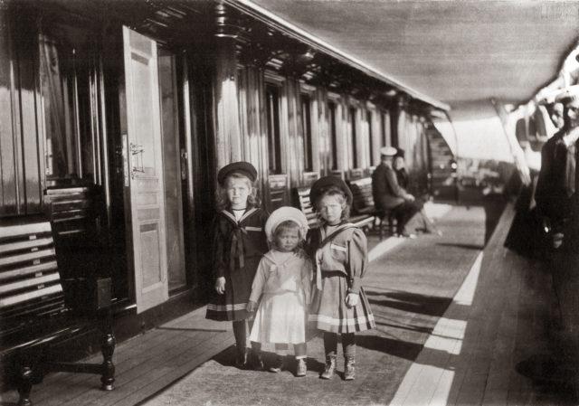 Grand Duchesses Olga, Maria and Tatiana.