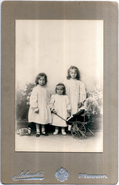 Grand Duchesses Tatiana, Maria and Olga.