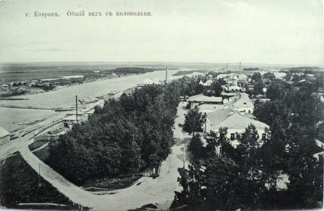 Kovrov, Vladimir Gubernia, Russia, view from the church tower