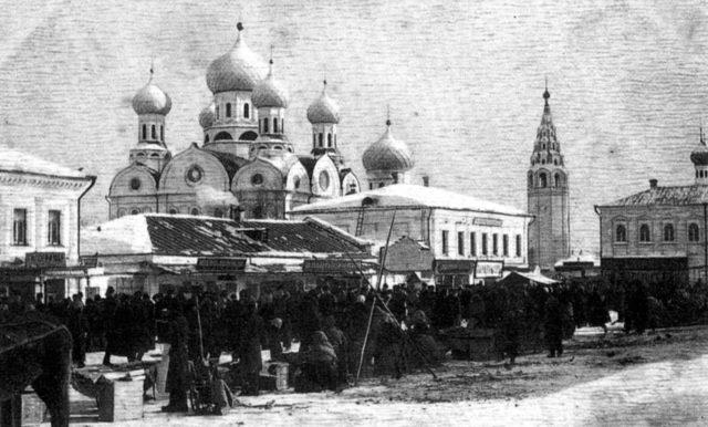 Market Square, Holy Cross church, Ivanovo - Textile Center of Russian Empire