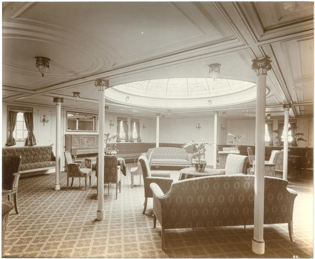 [Second class ladies lounge, Lusitania]