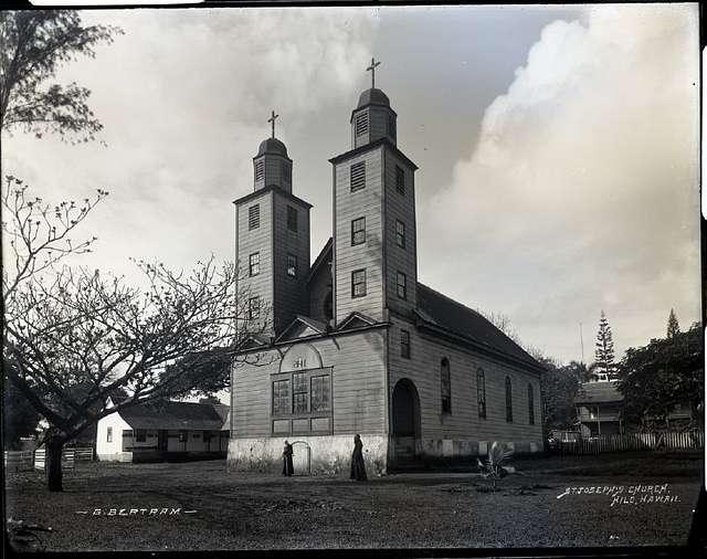St. Joseph's Church, Hilo (3), photograph by Brother Bertram