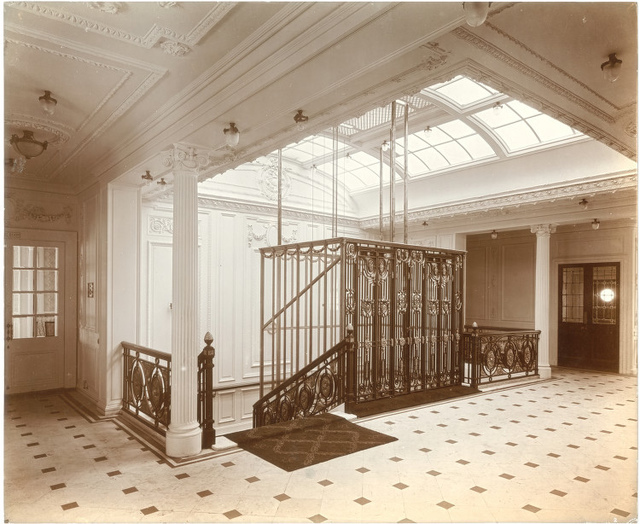 [Staircase and elevator, Lusitania]