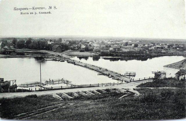 The bridge on the river Klyazma. Kovrov, Vladimir Gubernia, Russia