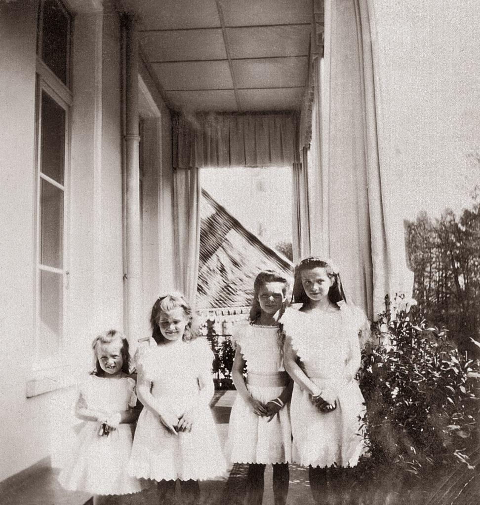 The Grand Duchesses Olga, Tatiana, Maria and Anastasia. Daughters of Emperor Nicholas II and Empress Alexandra Feodorovna. Photo of 1905.