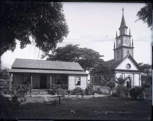 Wailuku Roman Catholic Mission, photograph by Brother Bertram