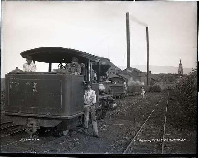 Wailuku Sugar Plantation and train (1), photograph by Brother Bertram