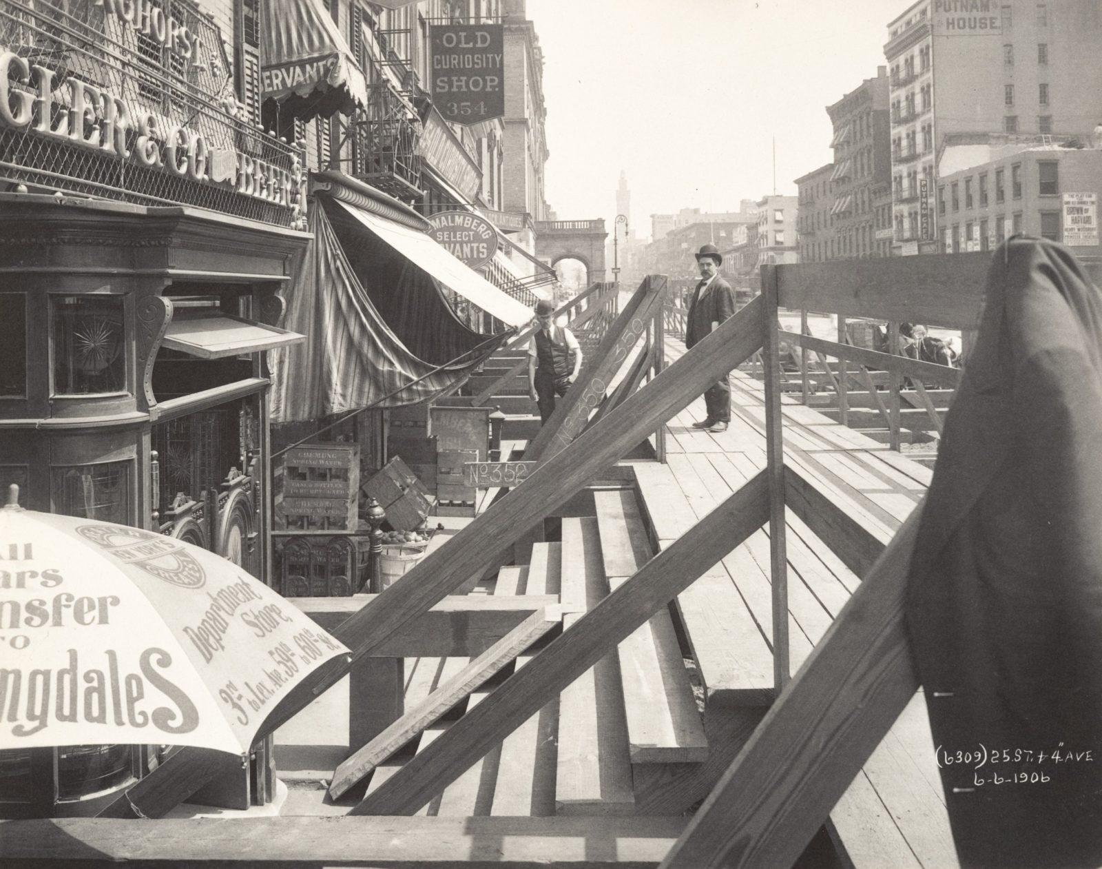[Interborough Rapid Transit (IRT) Construction, 25th Street and Fourth Avenue, New York City]