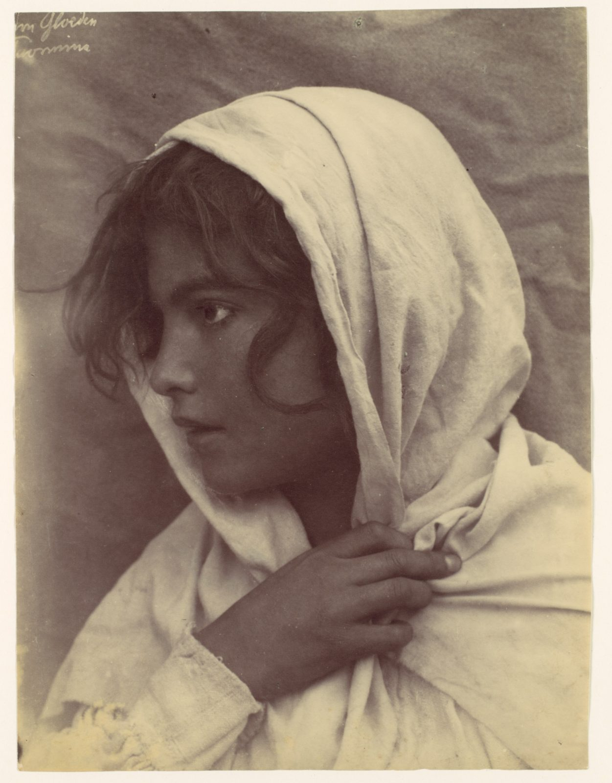 [Young Girl [?] with Cloak of Cloth Over Head, Sicily, Italy]