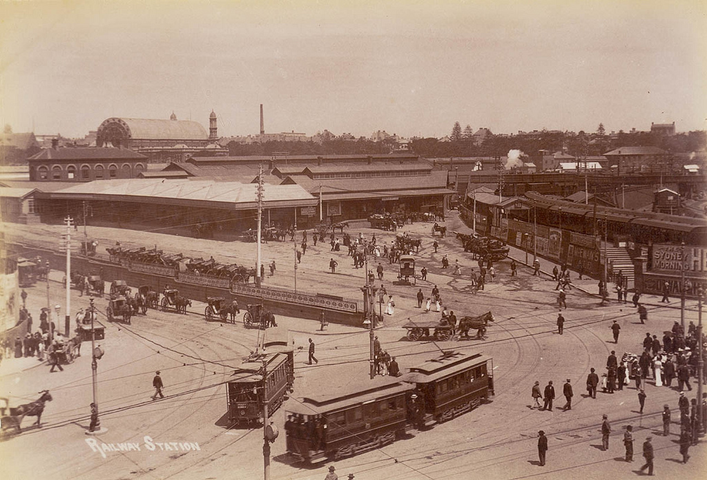 Central Railway Station (Old) [including Exhibition Building], before August 1906