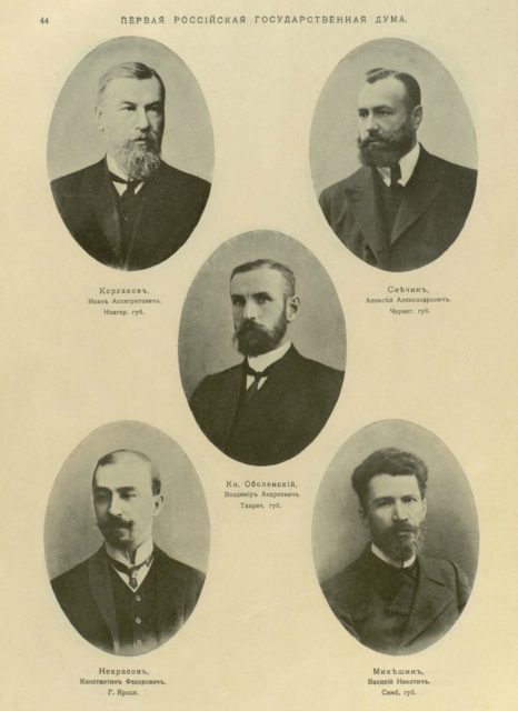Deputies of the First State Duma of The Russian Empire