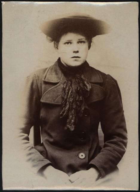 Dora Agnes Sanderson, domestic servant, arrested for theft