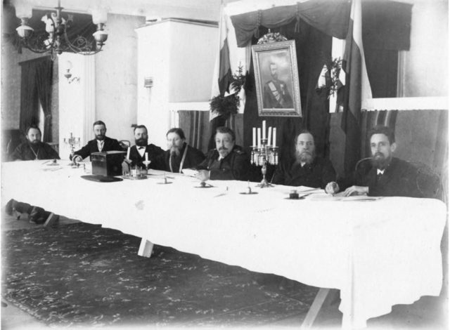 Elections to the State Duma. 1906 - Onega, Arkhangelsk region, Russia, White Sea.