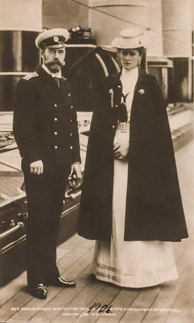 Emperor Nicholas II and Empress Alexandra, Imperial yacht Stadard