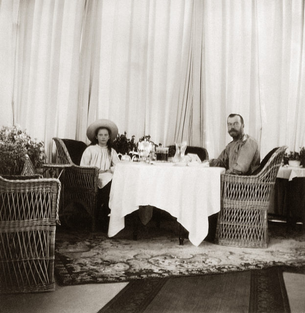 Emperor Nicholas II with Grand Duchess Tatiana. 1906.