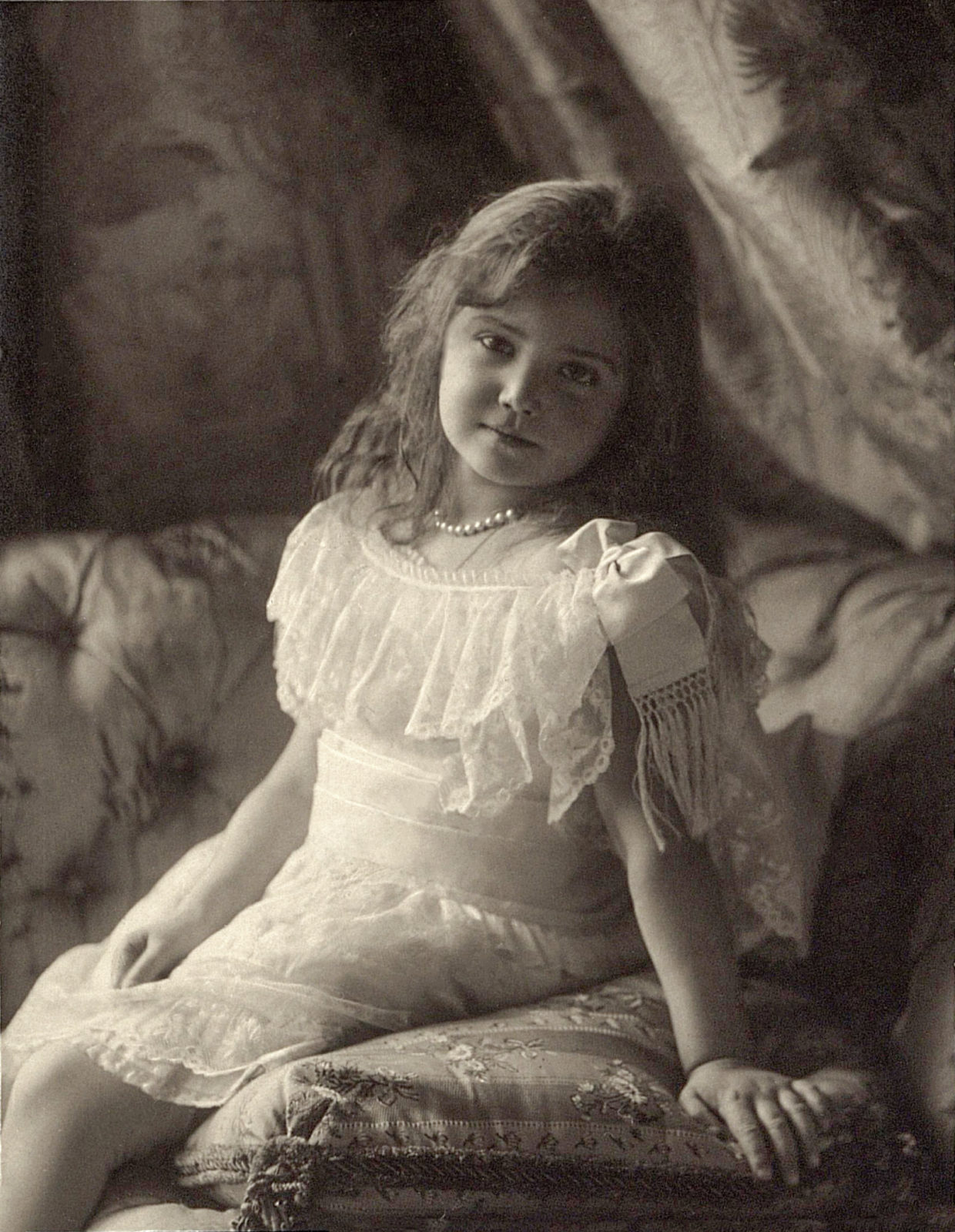 Grand Duchess Maria Nikolaevna. The third daughter of Emperor Nicholas II and Empress Alexandra Feodorovna. At home.