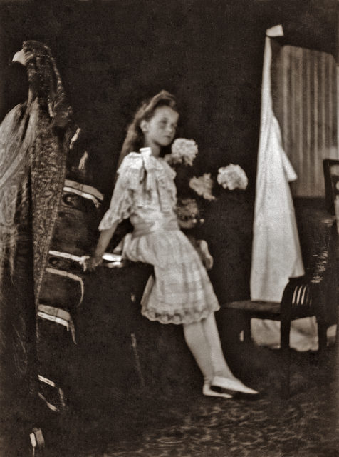 Grand Duchess Olga Nikolaevna. The first daughter of Emperor Nicholas II and Empress Alexandra Feodorovna. Children's Photo 1906.