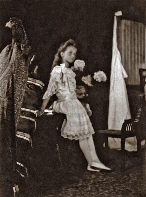 Grand Duchess Olga Nikolaevna. The first daughter of Emperor Nicholas II and Empress Alexandra Feodorovna. Children's Photo 1906.