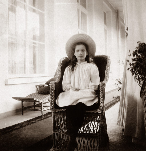 Grand Duchess Tatiana Nikolaevna. The second daughter of Emperor Nicholas II and Empress Alexandra Feodorovna. At home. Children's photo of 1906.